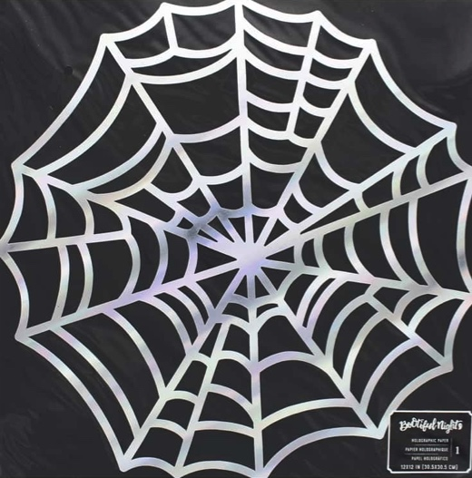 Holographic Spider Web 12x12 Die Cut Scrapbooking Paper