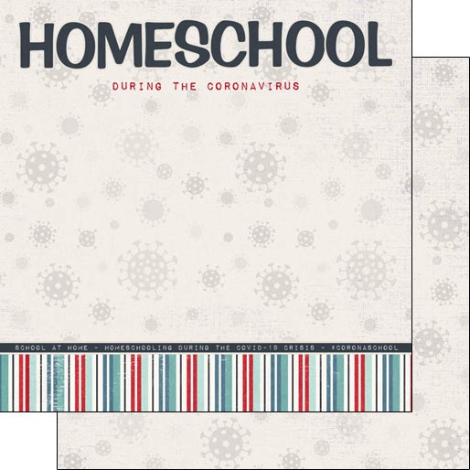 Home School 12x12 Double Sided Scrapbooking Paper