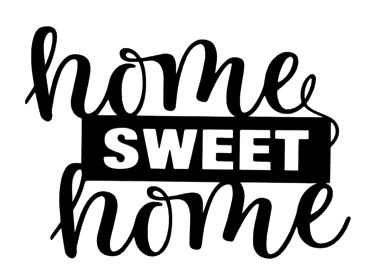 Home Sweet Home Scrapbooking Laser Cut Title