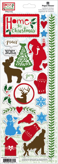 Home for Christmas Cardstock Scrapbooking Stickers