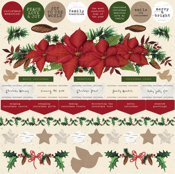 Home for Christmas 12x12 Cardstock Scrapbooking Stickers