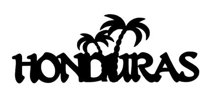 Honduras Scrapbooking Laser Cut Title with Palm Trees