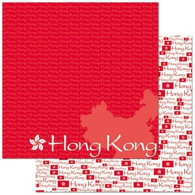Hong Kong 12x12 Double Sided Scrapbooking Paper