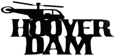 Hoover Dam Scrapbooking Laser Cut Title with Helicopter