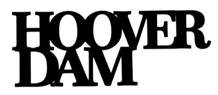 Hoover Dam Scrapbooking Laser Cut Title
