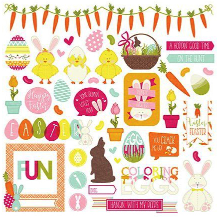 Hoppy Easter 12x12 Cardstock Scrapbooking Stickers