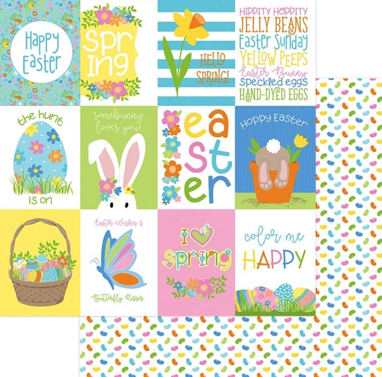 Hoppy Easter Double Sided 12x12 Scrapbooking Paper