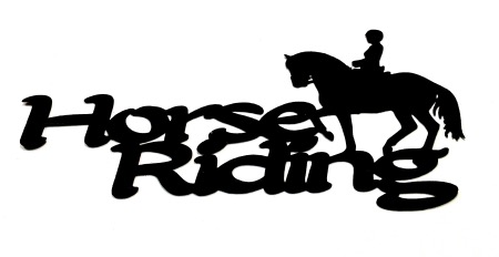 Horse Riding Scrapbooking Laser Cut Title with Horse