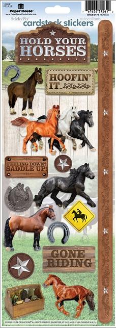 Horses Cardstock Scrapbooking Stickers