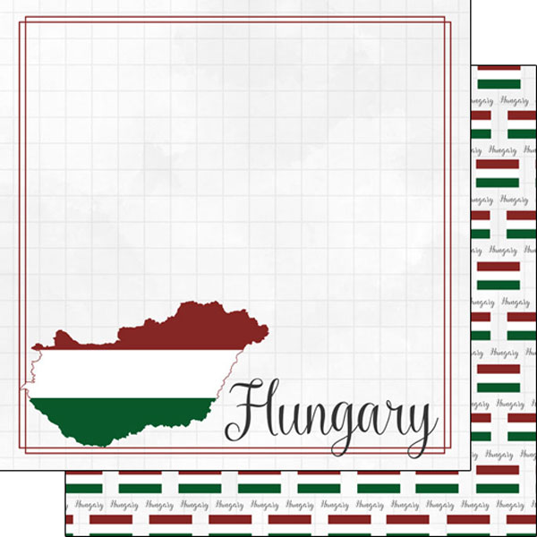 Hungary 12x12 Double Sided Scrapbooking Paper