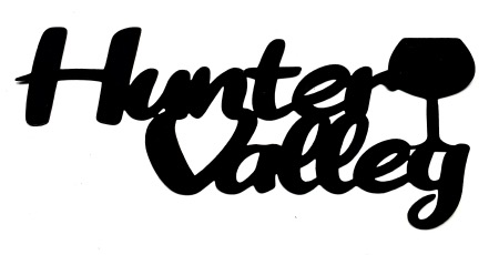 Hunter Valley Scrapbooking Laser Cut Title with Drink