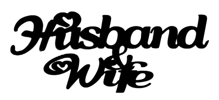 Husband and Wife Scrapbooking Laser Cut Title