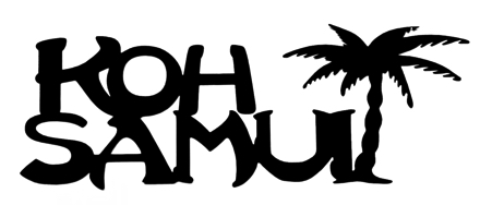 Koh Samui Scrapbooking Laser Cut Title with Palm