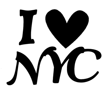 I Heart NYC Scrapbooking Laser Title