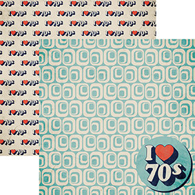 I Love the 70s 12x12 Double Sided Scrapbooking Paper
