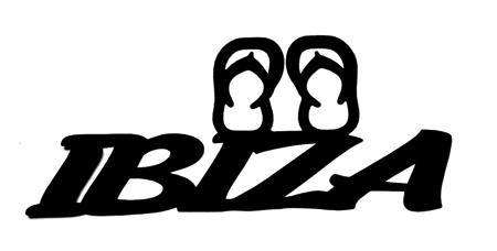 Ibiza Scrapbooking Laser Cut Title with Flip Flops