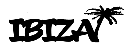 Ibiza Scrapbooking Laser Cut Title with Palm Tree