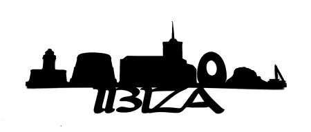 Ibiza Scrapbooking Laser Cut Title with skyline
