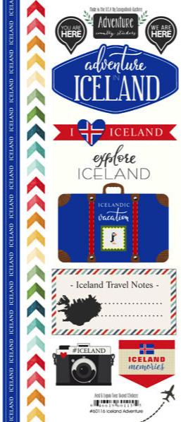 Iceland Adventure Scrapbooking Stickers