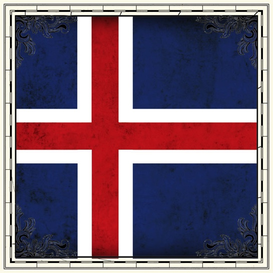 Iceland Flag 12x12 Scrapbooking Paper