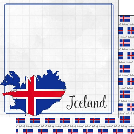 Iceland 12x12 Double Sided Scrapbooking Paper