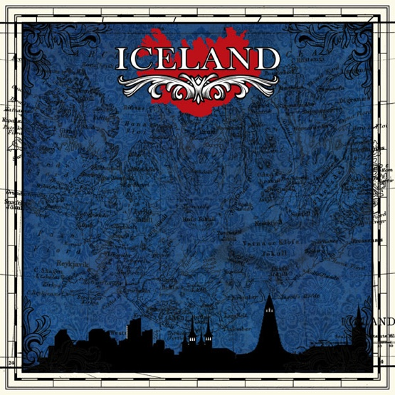Iceland Sightseeing 12x12 Scrapbooking Paper