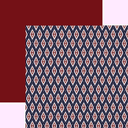 Ikat Far East 12x12 double sided Scrapbooking Paper
