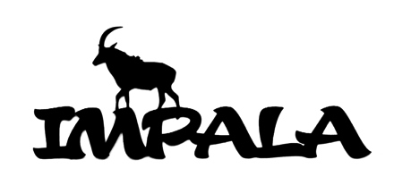 Impala Scrapbooking Laser Cut Title with Impala