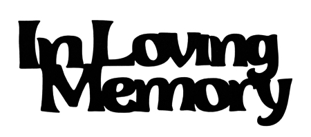 In Loving Memory Scrapbooking Laser Cut Title