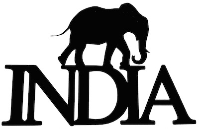 India Scrapbooking Laser Cut Title with Elephant