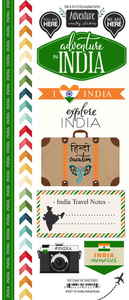 India Adventure Scrapbooking Stickers
