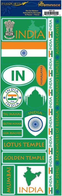 India Cardstock Scrapbooking Stickers and Borders