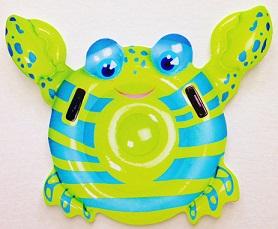 Inflatable Crab Die Cut Scrapbooking Sticker