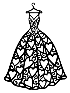 Dress Intricate Scrapbooking Laser Cut