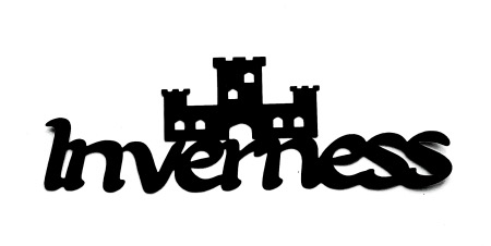 Inverness Scrapbooking Laser Cut Title with Castle