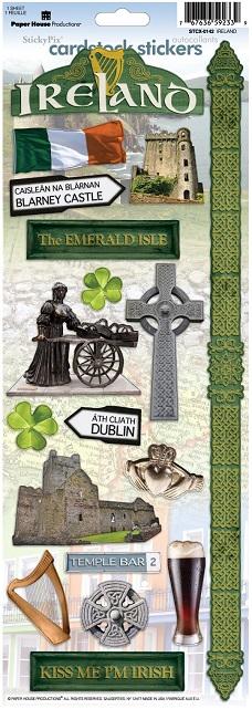 Ireland Cardstock Scrapbooking Stickers