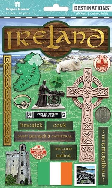 Ireland 2D Scrapbooking Stickers