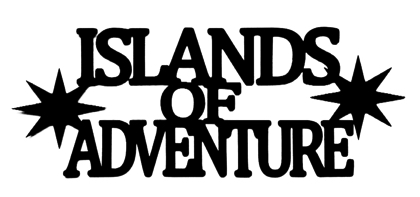 Islands of Adventure Scrapbooking Laser Cut Title with Stars