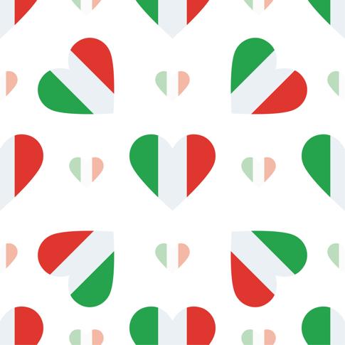 Italian Hearts 12x12 Scrapbooking Paper