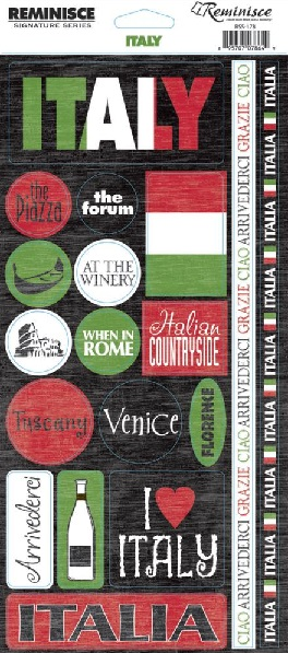 Italy Phrases Cardstock Scrapbooking Stickers and Borders