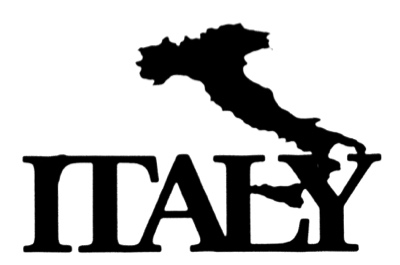 Italy Scrapbooking Title with country shape