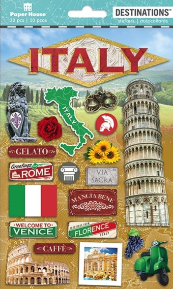 Italy 2D Scrapbooking Stickers