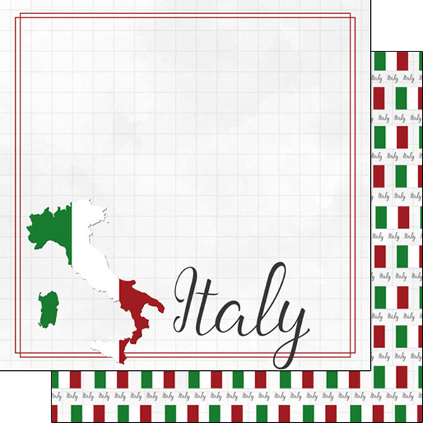 Italy 12x12 Double Sided Scrapbooking Paper