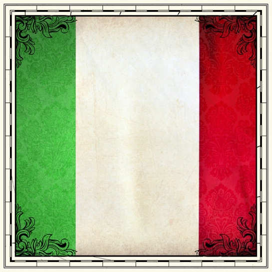 Italy Flag 12x12 Scrapbooking Paper