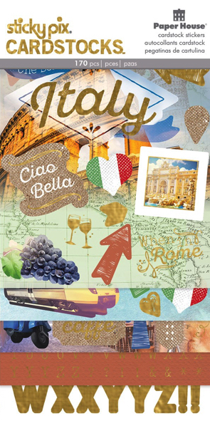 Discover Italy Scrapbooking Sticker Multi Pack