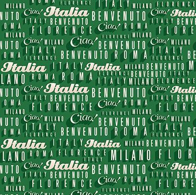 Italy Words Scrapbooking Paper