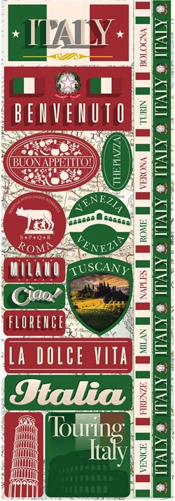 Italy Cardstock Scrapbooking Stickers and Borders