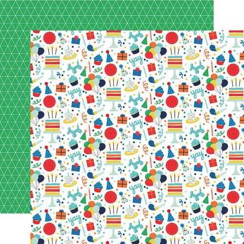 Birthday Boy Fun Double Sided 12x12 Scrapbooking Paper