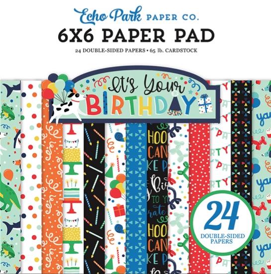 "Birthday Boy Scrapbooking 6"" x 6"" Paper Pad"