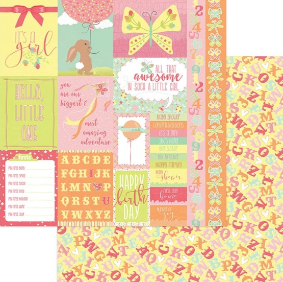 It's a Girl 12x12 Double Sided Scrapbooking Paper